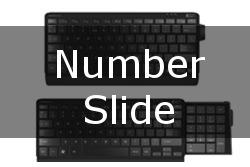 New Ergonomic Keyboard: Number Slide by Posturite